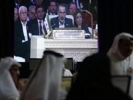 معاذ الخطيب في القمة العربية