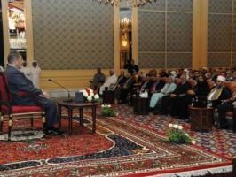 مرسي مع الجالية المصرية في قطر