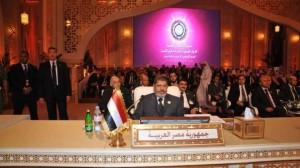 مرسي فى القمة العربية: لن نسمح بتدخل أحد في شئون مصر الداخلية