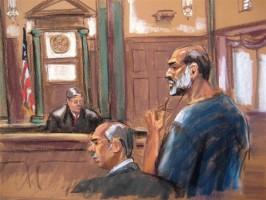 بوغيث أثناء مثوله امام المحكمة في نيويورك