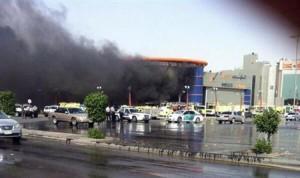 حريق سوق ''الهرم بلازا'' شرق الرياض