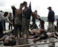 غرق سفن تنقل مسلمين من الروهينجيا قبالة بورما مع اقتراب اعصار
