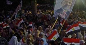 تأييد لمرسي أثناء الخطاب