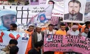 وقفة نشطاء وأهالي المعتقلين اليمنيين المنسيين في غوانتانامو