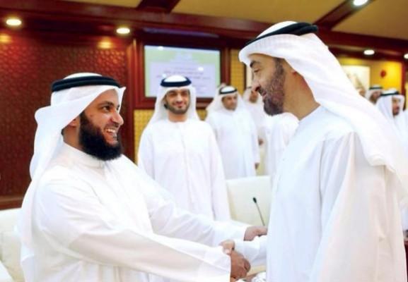 محمد بن زايد يستقبل العفاسي بحفاوة