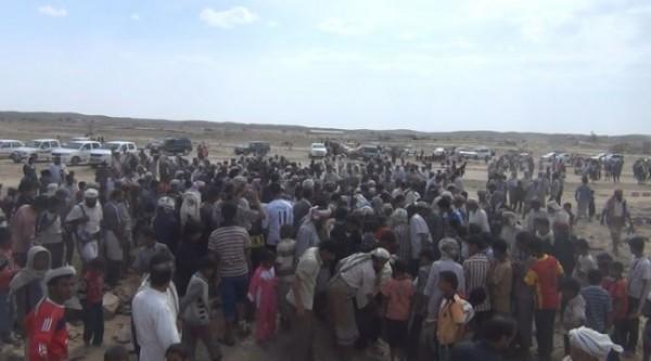 تشييع القتلى من ضحايا الغارة الجوية بمديرية الصومعة