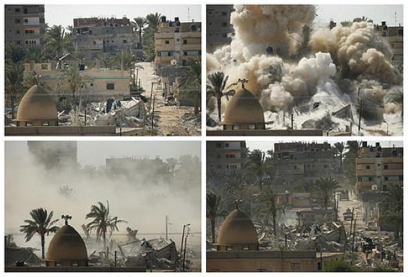 الانقلاب يدمر البيوت لإخلاء سيناء