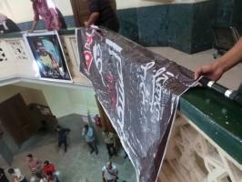 طلاب ضد الانقلاب داخل جامعة عين شمس اليوم