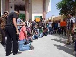 أمن الانقلاب يعامل الطلبة كأسرى حرب