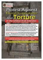 مظاهرة سفارة الامارات