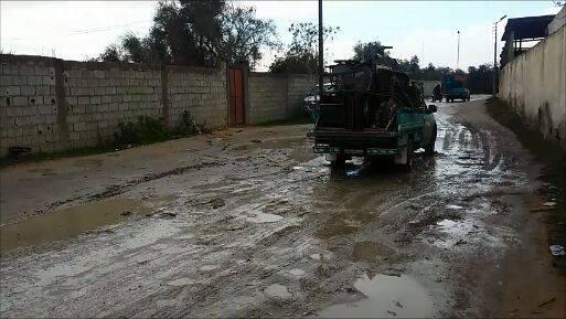 تهجير أهالي سيناء في المطر والبرد القارس