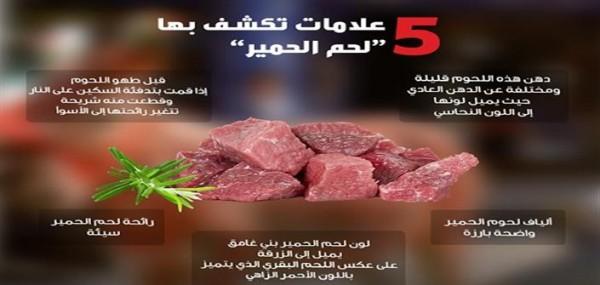 """أنفوجراف يوضح الفرق بين """"لحم الحمير """" وغيره من اللحوم"""