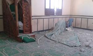 الانقلاب يقصف المسجد الوحيد بقرية أبو طويلة بالشيخ زويد
