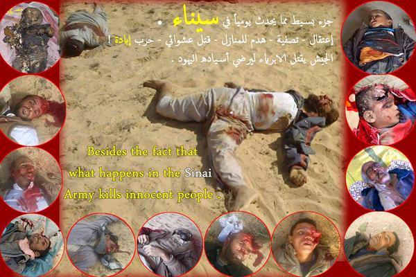 جزء بسيط مما يحدث في سيناء على يد ميليشيات السيسي