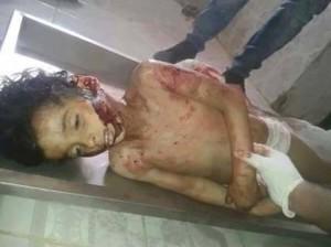 جثة طفل من أطفال سيناء قتله العسكر