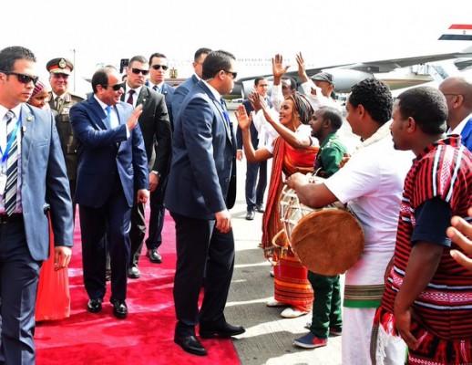 أثيوبيا تستقبل السيسى على طريقتها