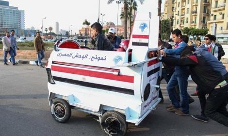 الوحش المصري الأضحوكة أحد فناكيش قائد الانقلاب ومؤيديه
