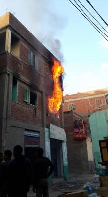 أمن الانقلاب يحرق منازل رافضي الانقلاب بالبصارطة