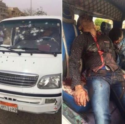 أمن الانقلاب يقتل مواطنين داخل ميكروباص بزعم أنهم قتلة ريجيني