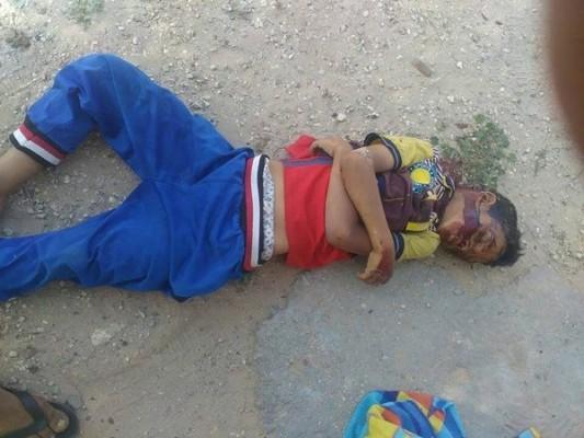 الطفل يوسف أحمد هليل الذي قتل بقذائف جيش الانقلاب في حي الترابين بالشيخ زويد