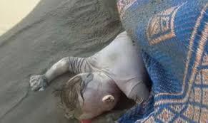 طفل غريق ضحية الانقلاب العسكري