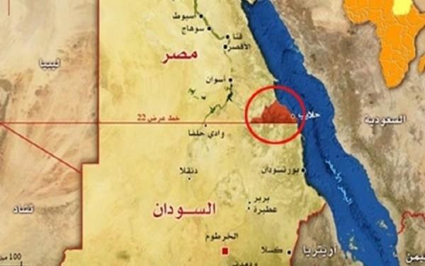 حلايب خريطة