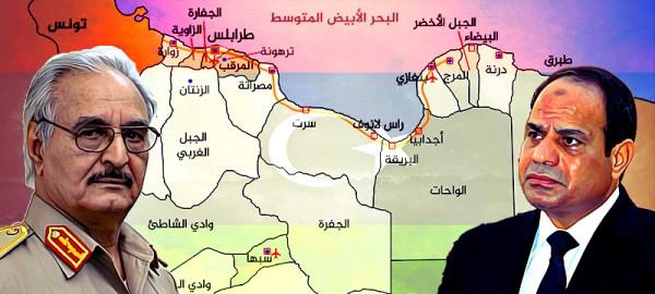 السيسي يوفر الغطاء الجوي لدعم قوات حفتر