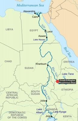خريطة سد النهضة