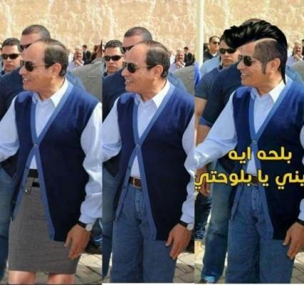 السيسي يتفقد العاصمة الإدارية بملابس تثير السخرية