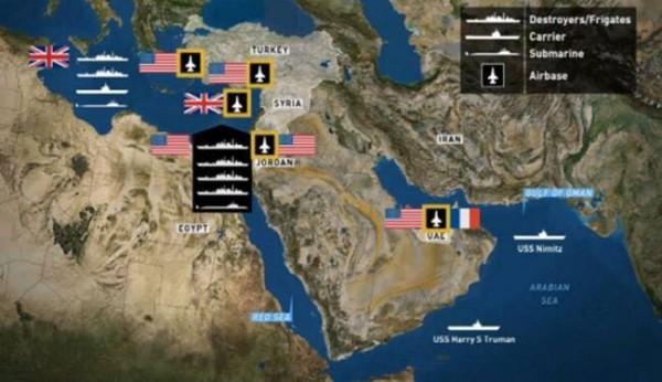 خريطة النفوذ الحربي الأمريكي المتنامي في مصر والمنطقة