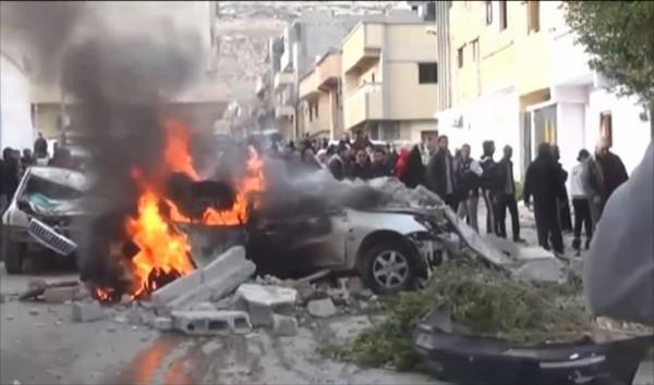 القصف المصري على درنة عام 2015 خلّف قتلى وجرحى من المدنيين