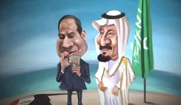 السعودية ترفع علمها على الجزر المصرية