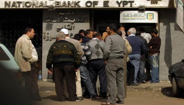 ارتباك في البنوك المصرية عقب انقلاب السعودية