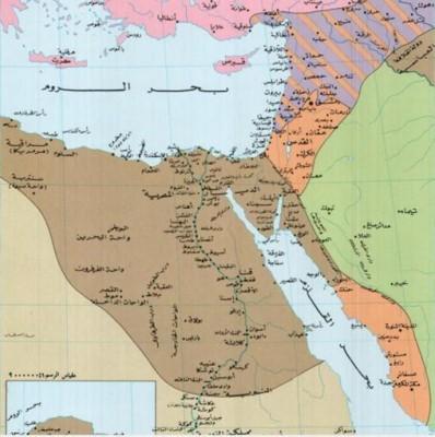مساحة الدولة المصرية من الفتح الإسلامي حتى ثورة 52