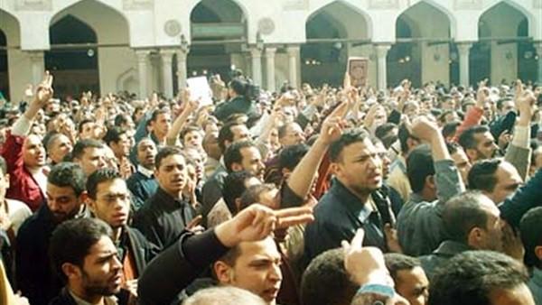 مظاهرات الجامع الأزهر لدعم القدس