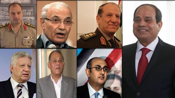 الطامعون بالرئاسة المصرية يتساقطون أمام عبد الفتاح السيسي