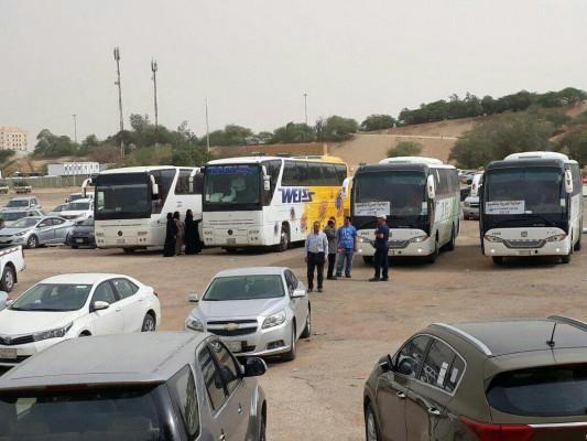 وزارة الهجرة في حكومة الانقلاب توفر باصات لنقل الناخبين في السعودية