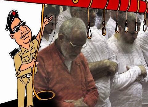 قضاء الانقلاب يحكم بإعدام 75 معتقلا في هزلية فض اعتصام رابعة