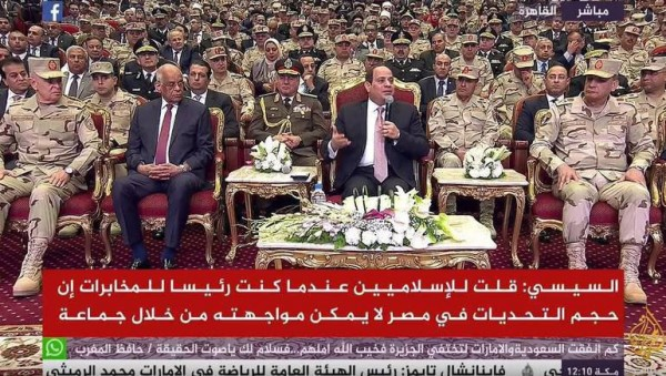 أكاذيب في خطاب السيسي اليوم بندوة الجيش