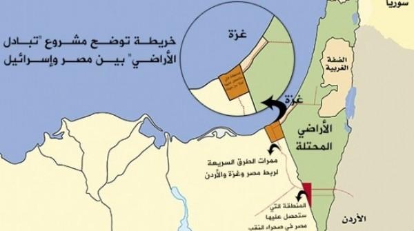 خريطة تبادل الأراضي