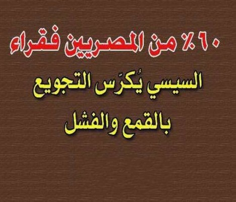 المصريين فقراء