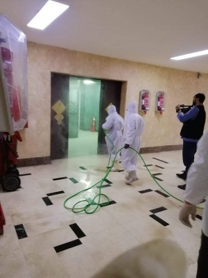 """حملة تطهير بعد اكتشاف حالة مصابة بـ""""كورونا"""" داخل ماسبيرو"""