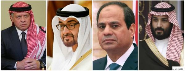 السيسي وبن سلمان وعبدالله يباركون ضم الصهاينة لأراضي الضفة