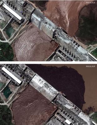 """صور تكشف زيادة مياه """"سد النهضة"""" مع انتهاء مفاوضات السد دون اتفاق"""